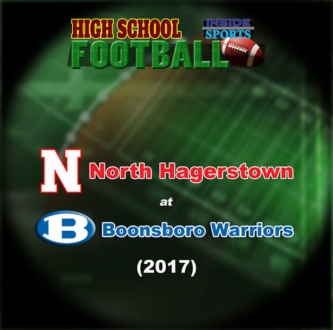 2017 High School Football-North at Boonsboro- Blu-ray