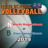 High School Volleyball- North Hagerstown at Clear Spring (2019)- Blu-ray