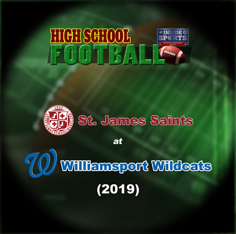 2019 High School Football-St James at Williamsport- Blu-ray