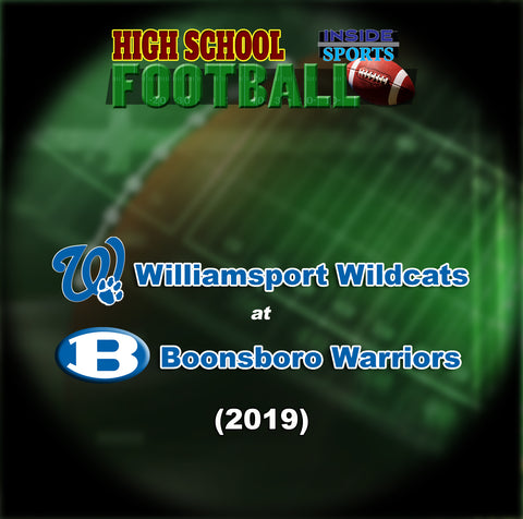2019 High School Football-Williamsport at Boonsboro- Blu-ray