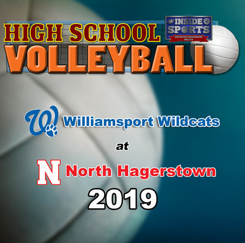 High School Volleyball- Williamsport at North Hagerstown (2019)- Blu-ray