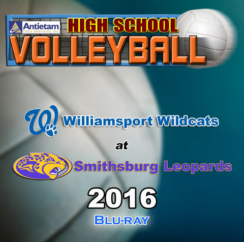 High School Volleyball- Williamsport at Smithsburg (2016) BLU-RAY