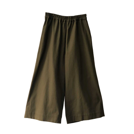 Olive Green Wide Leg Trousers
