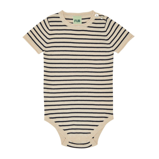 Navy Stripe Short Sleeve Baby Body