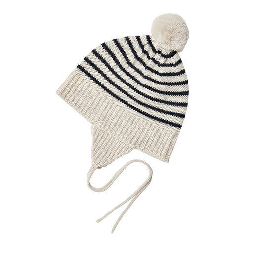 Navy Stripe Knit Baby Hat