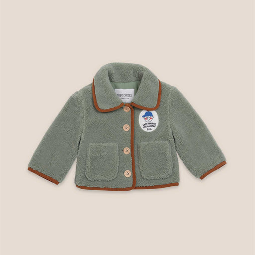 Boy Patch Sheepskin Jacket