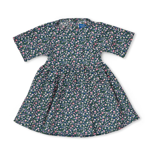 Kids Blue Ditsy Floral Babydoll Dress