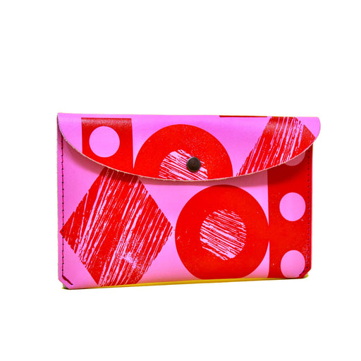 Hot Pink & Red Large Purse
