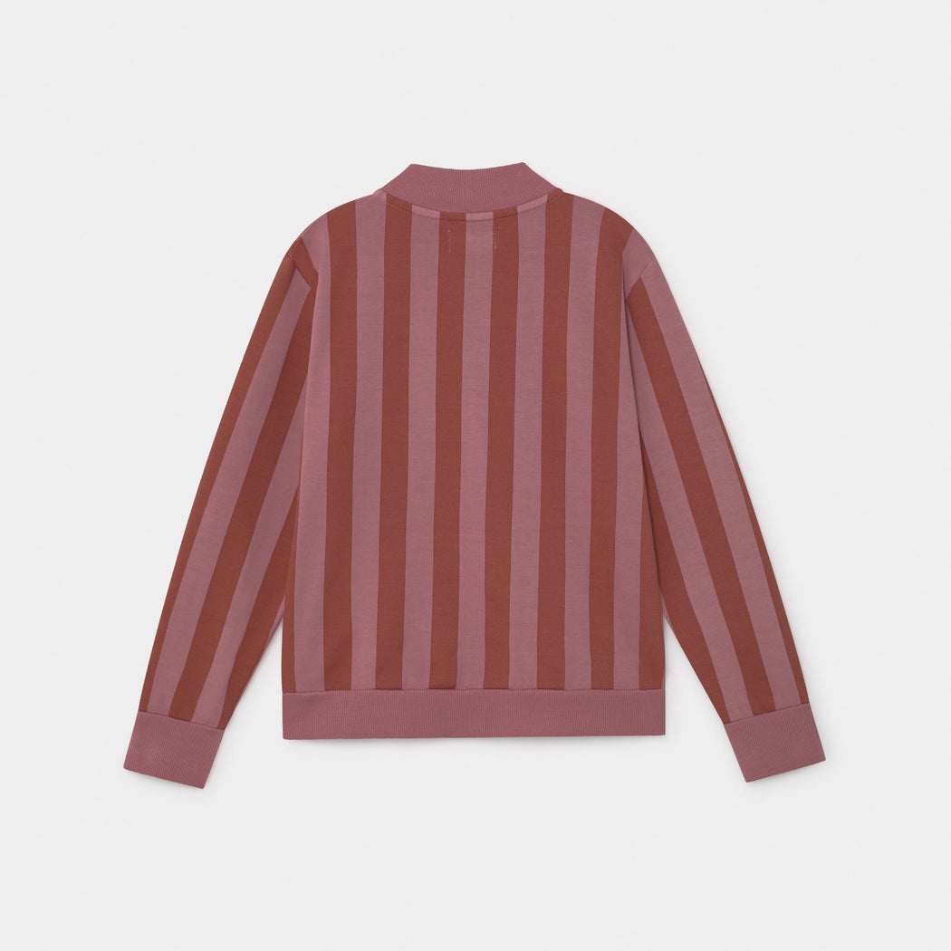 Bobo Striped Zipped Sweatshirt