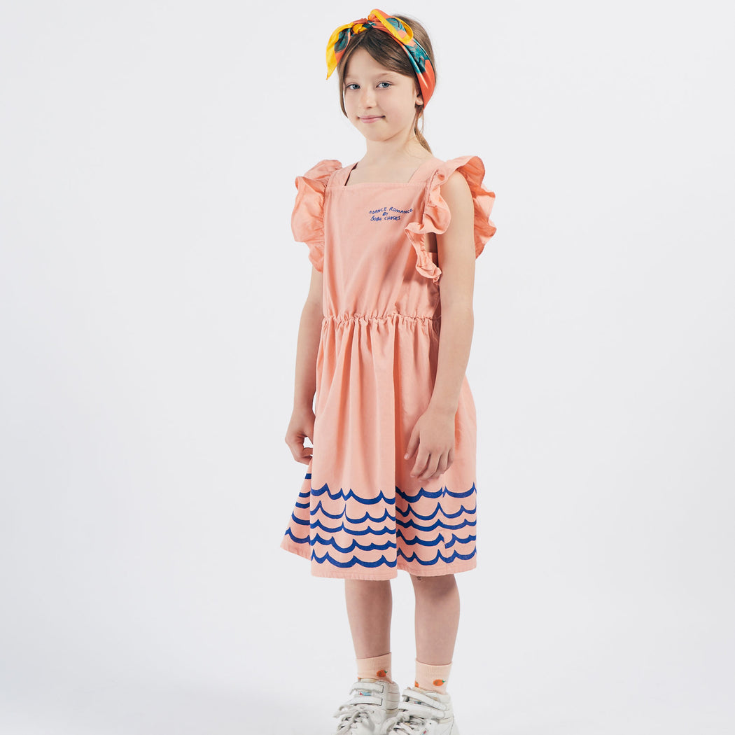 Waves Woven Ruffle Dress