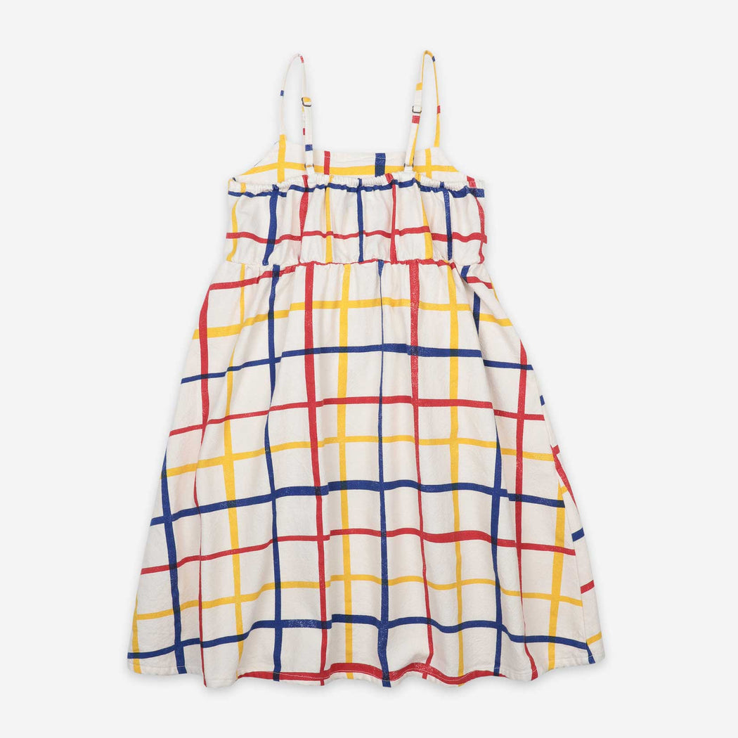 Multicolour Checkered Woven Dress