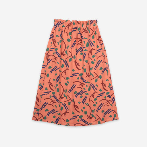 Brush Stroke Midi Skirt