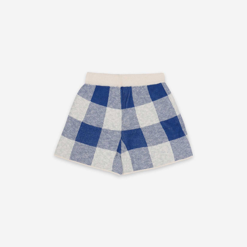 Knitted Gingham Shorts