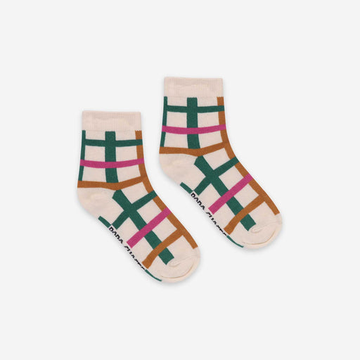Multicolour Check Short Socks