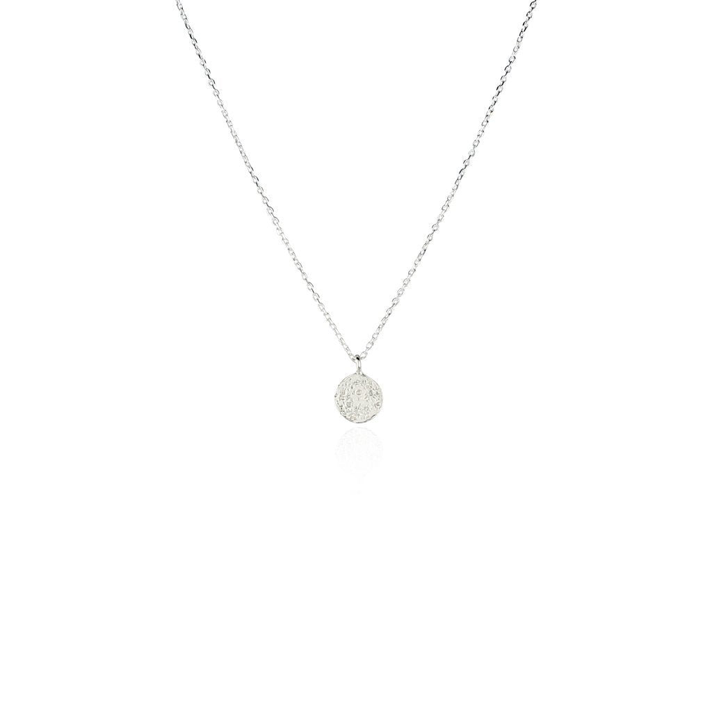 Mini Moon Disc Necklace