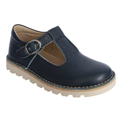 Petasil Cindy Classic Navy Kids T-Bar Buckle Shoes