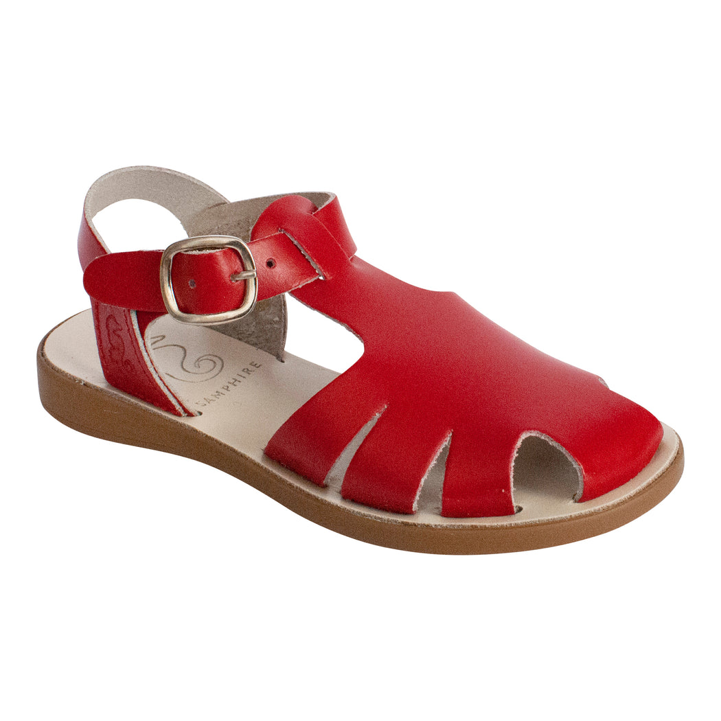Kids Red Closed Toe Sandals