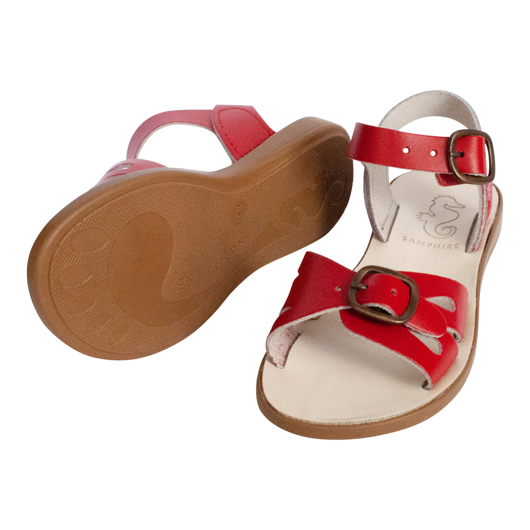 Kids Red Buckle Sandals