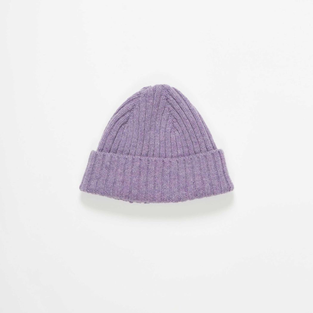 Lilac Rib Knit Wool Hat