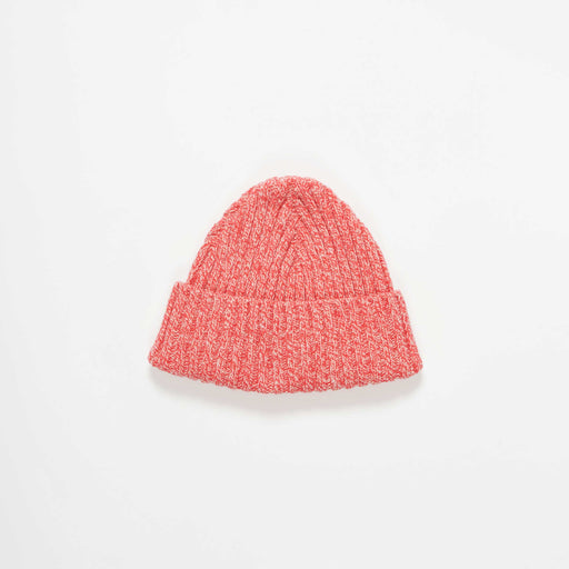 Red Marl Rib Wool Hat