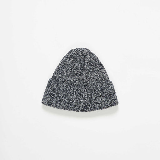 Black Marl Rib Wool Hat