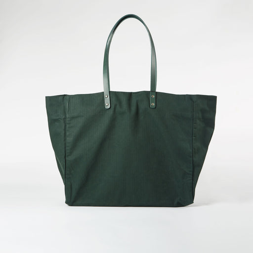 Forest Green Waxed Cotton Tote Bag