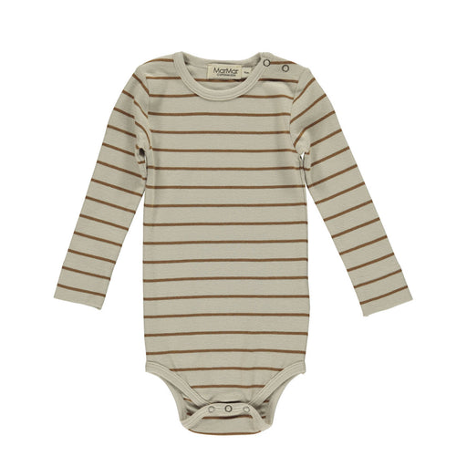 Leather Brown Stripe Long Sleeve Body