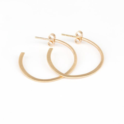 Large Pebble Hoop Stud Earrings