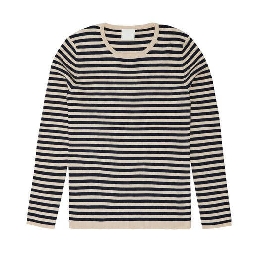 Navy Stripe Rib Top