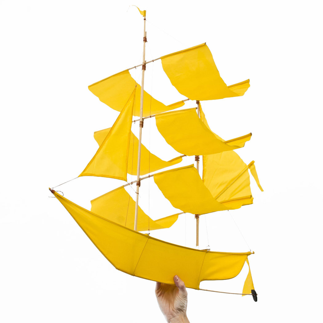 Canary Yellow Sailing Ship Kite
