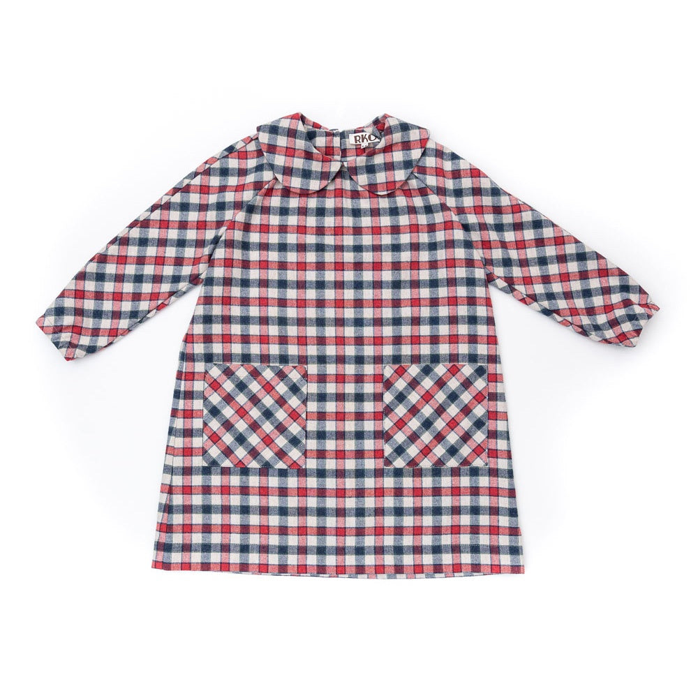 Kids Flannel Check Dress