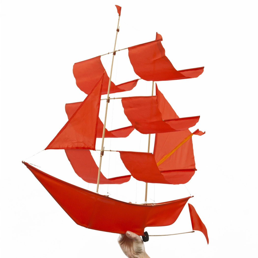 Flame Red Sailing Ship Kite