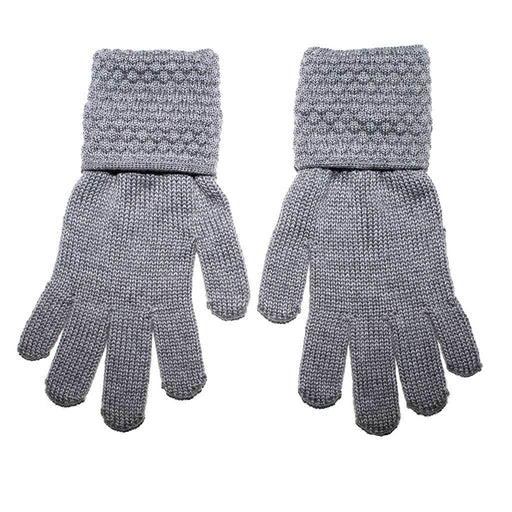 Grey Kids Wool Gloves