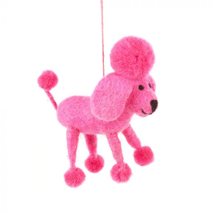Felt Pink Poodle Hanging Decoration