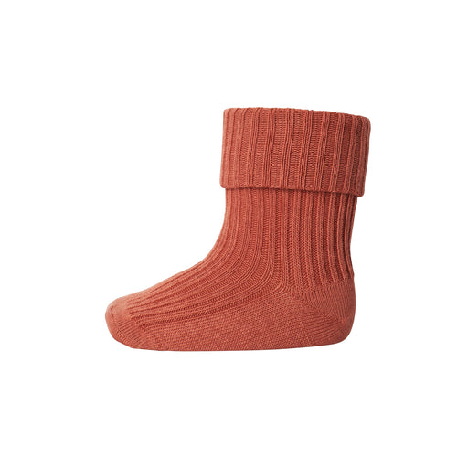 Coral Pink Baby Cotton Rib Socks