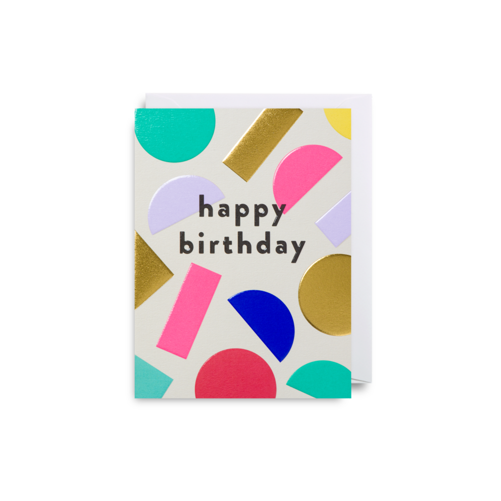 Multi Colour Shapes Birthday Card