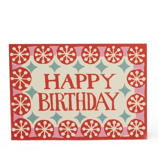 Coral & Pink Happy Birthday Card