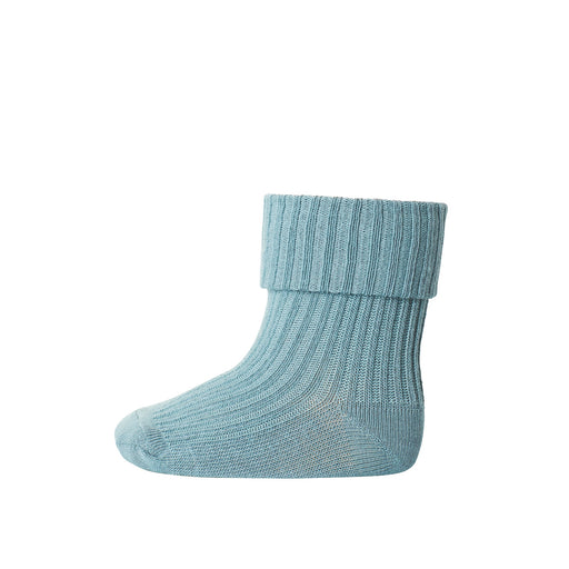 Stormy Blue Baby Cotton Rib Socks