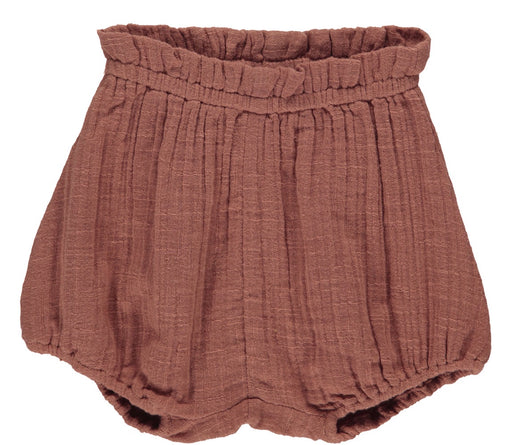 Dusty Brick Muslin Baby Shorts