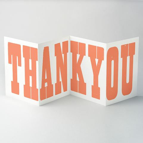 Thank You Concertina Card