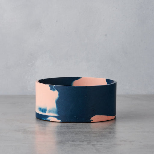 Pink & Stormy Blue Small Cylinder Vessel