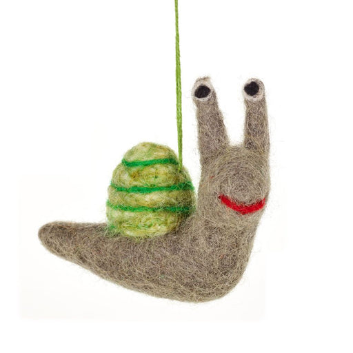 Felt Snail Hanging Decoration