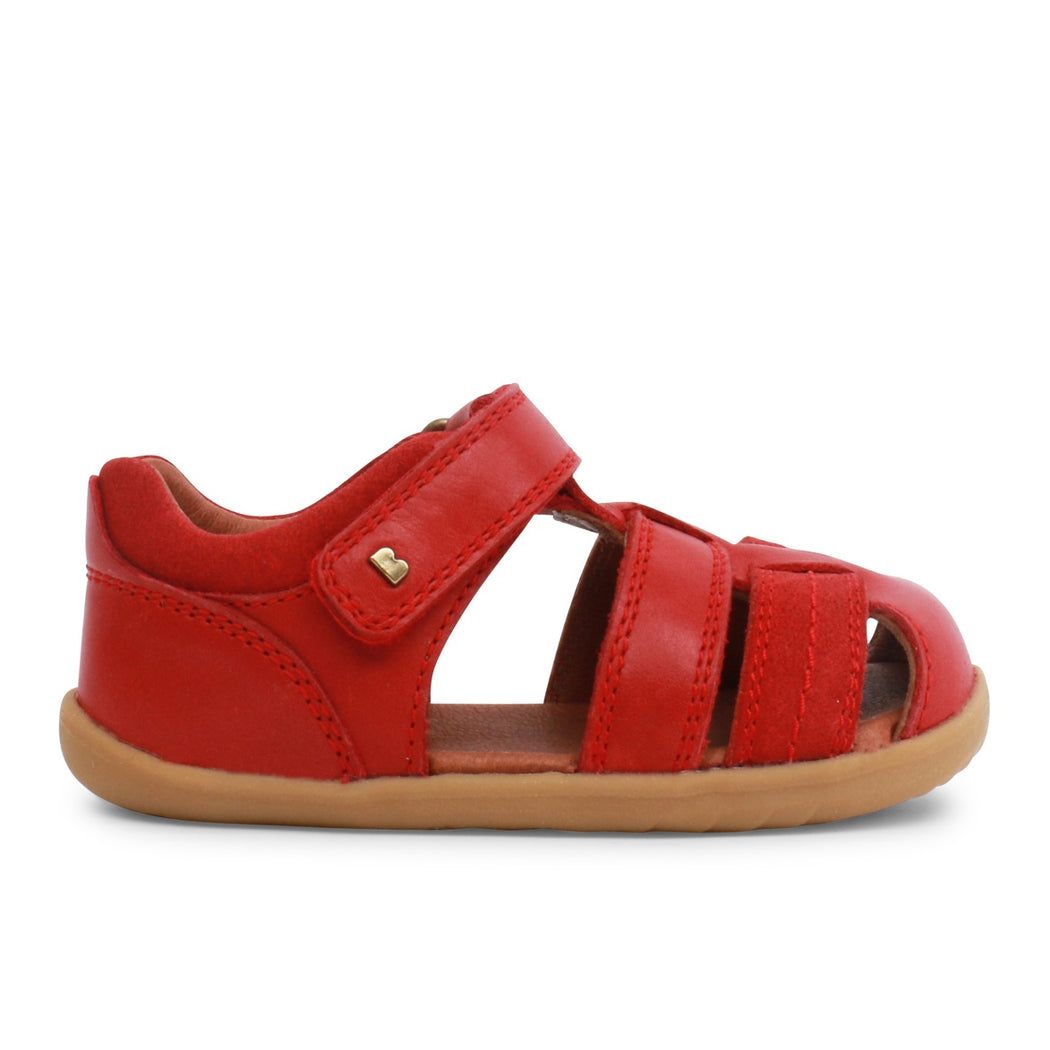 Bobux Red Step Up Velcro Closed Toe Sandal
