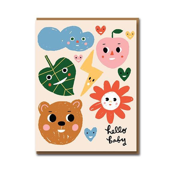 Sunny Faces New Baby Card