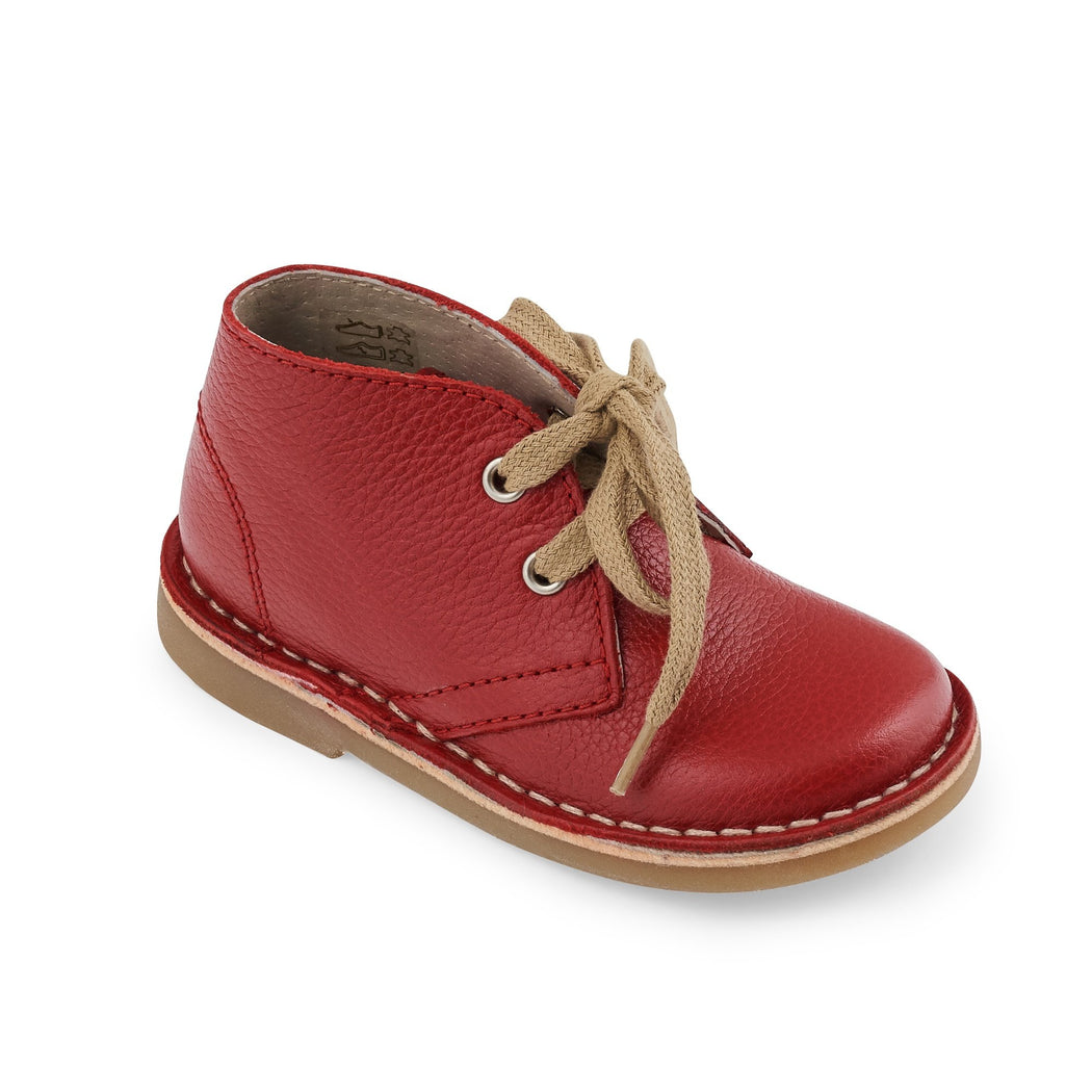 Petasil Red Kids Lace Up Boots