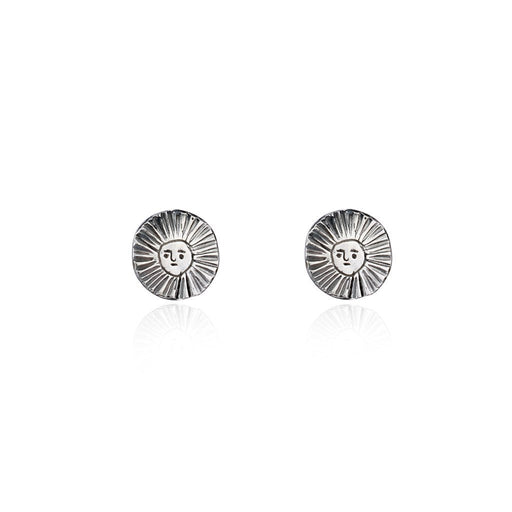 Sun Disc Stud Earrings