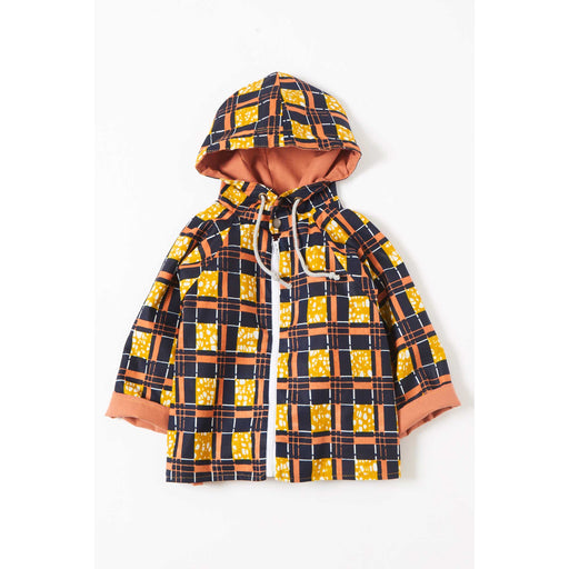 African Cube Print Kids Jacket
