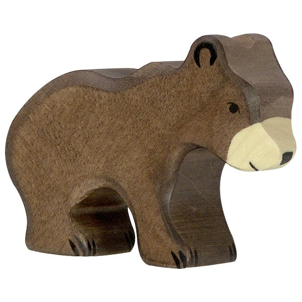 Wooden Brown Bear Cub