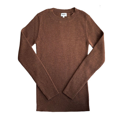 Conker Brown Skinny Rib Jumper