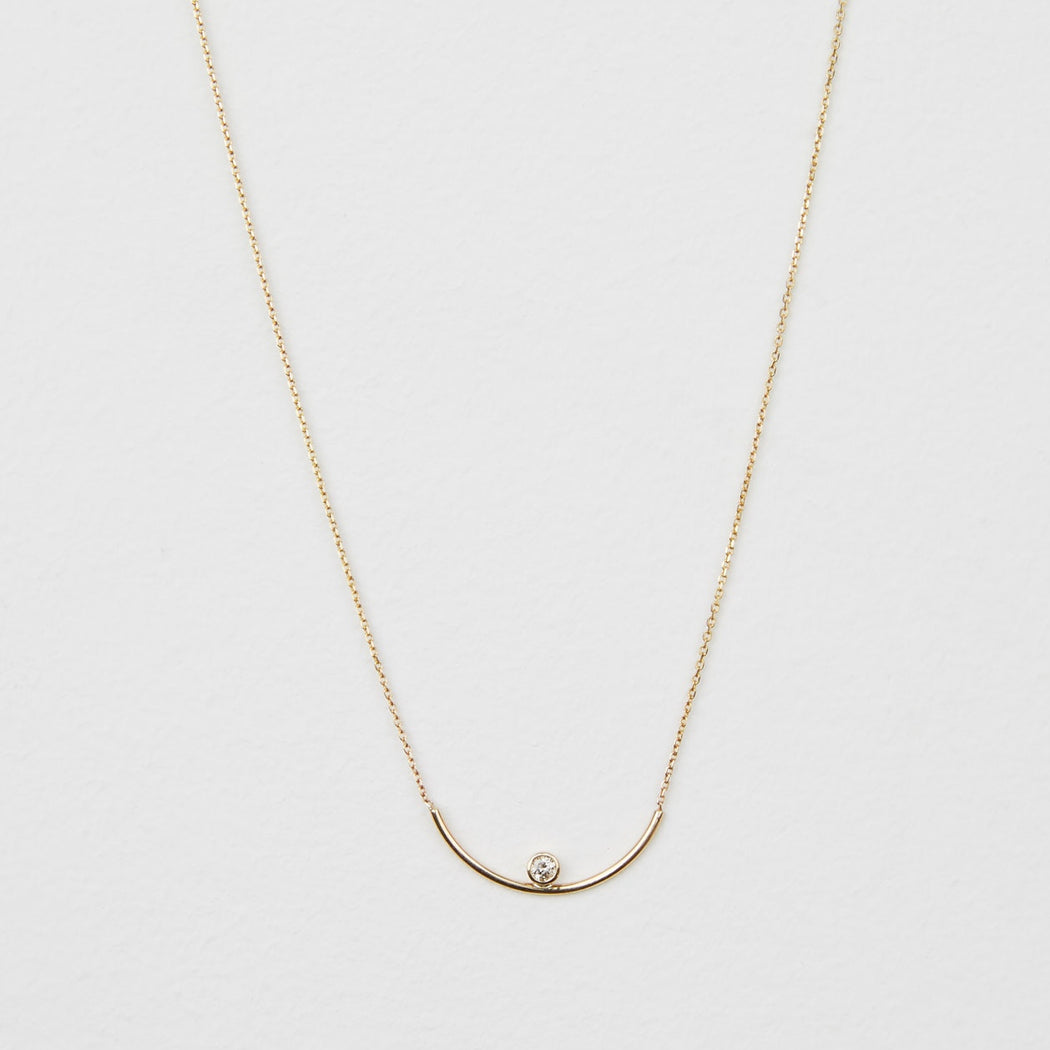 Diamond Scoop Necklace